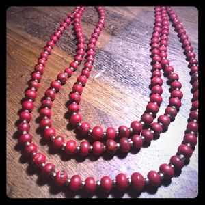 Jewelry - Gorgeous long red necklace!